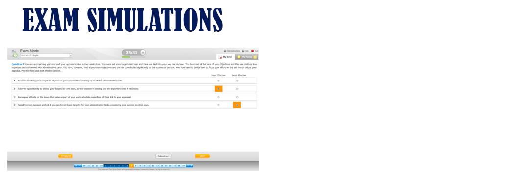 exam simulation online
